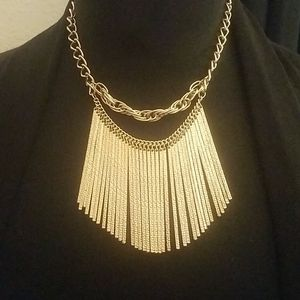 Guess Gold Tone Statement Necklace